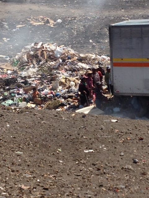 The dump near where the village is located
